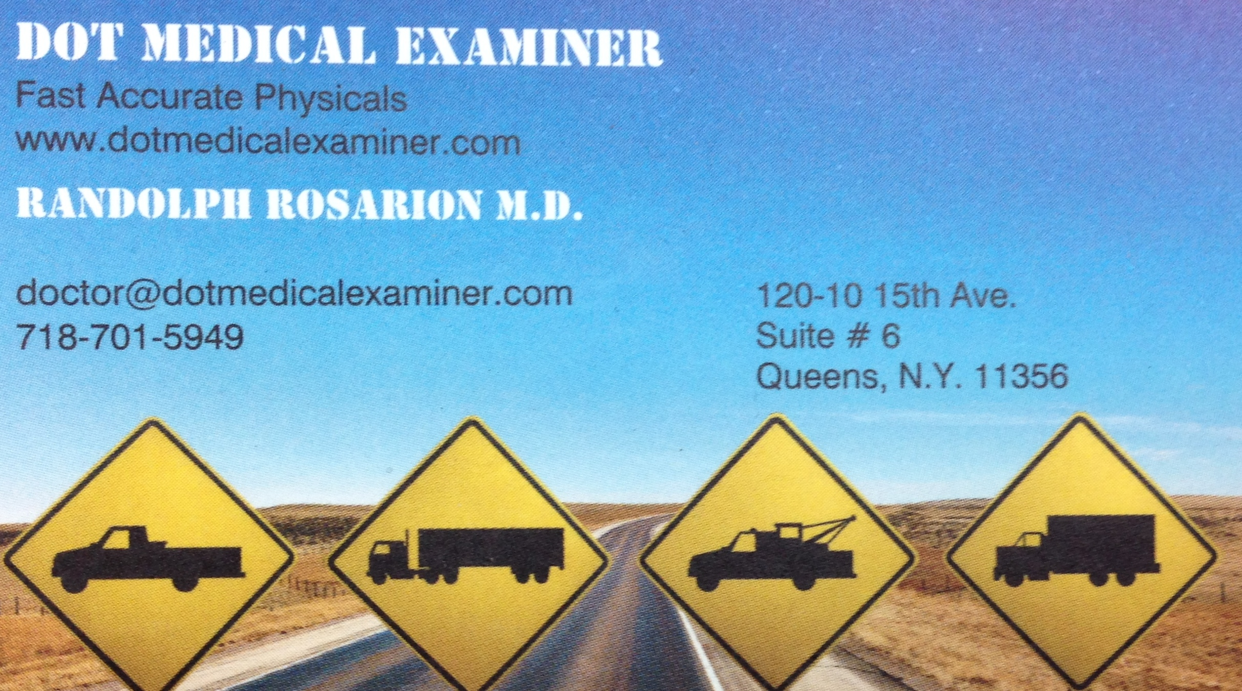 Certified Dot Medical Examiner Truck Driver Physicals Nyc Tlc