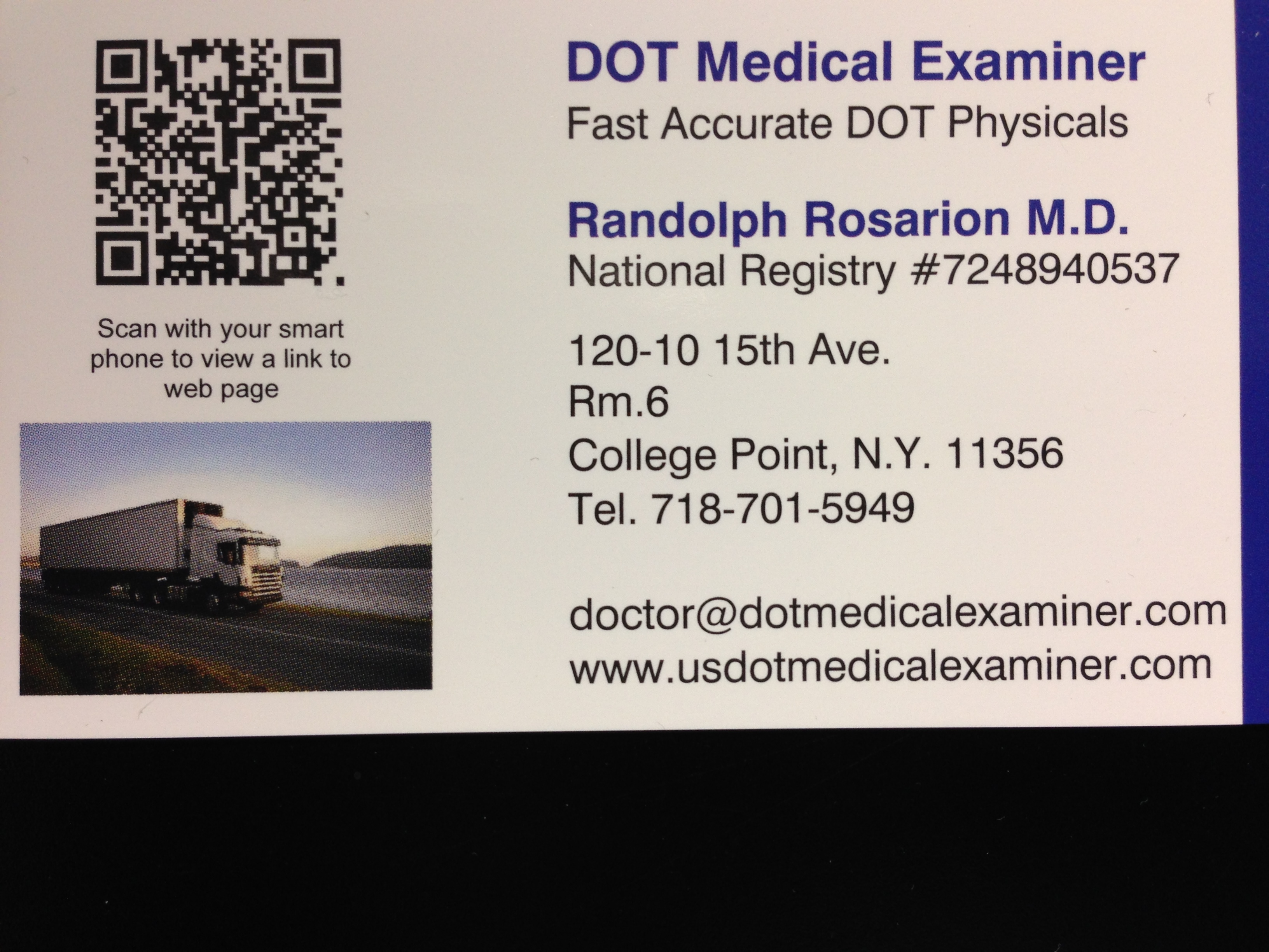 Dot Physical Examiner Queens Ny About Us Truck Driver